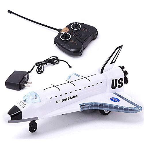 Mopoq STS-102 - Juego De Luces Intermitentes Para Avión, 2,4 G, De Aleación, Con Mando A Distancia, Para Transporte Aéreo, Para Niños, Farbe Blanco