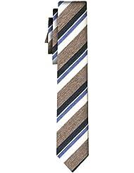 BOSS Seidenkrawatte stripe beige white /6cm