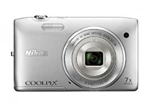 Nikon Coolpix S3500 Digitalkamera (20 Megapixel, 7-fach optischer Zoom, 6,7 cm (2,7 Zoll) TFT-LCD, bildstabilisiert) silber