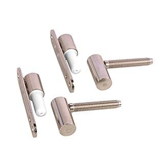Gedotec Türscharnier Zimmertür Renovierbänder Metall vernickelt | Türbänder zum Aufschrauben - einbohren | MADE IN GERMANY | 2 Stück