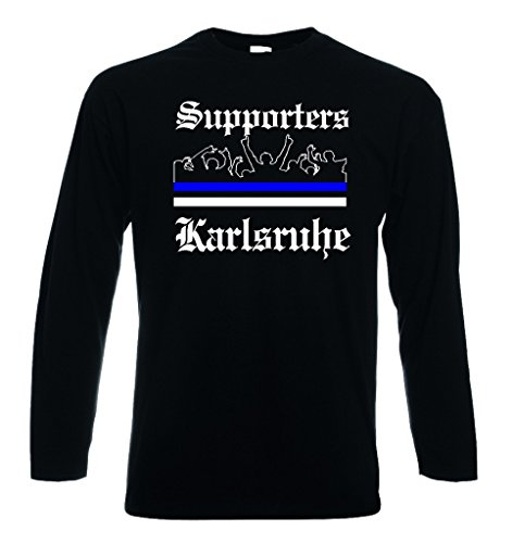 World-of-Shirt Herren Longsleeve T-Shirt Karlsruhe Ultras Supporters M