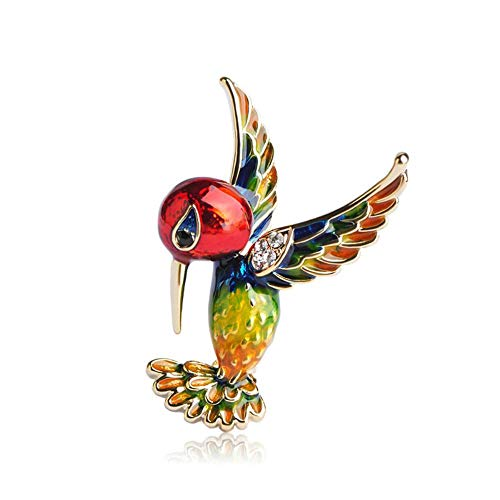 QSCVHU New Red Emaille Vogel Broschen Pins für Frauen Kinder Gold-Farbe Bankett Kostüm Dekoration Elster Tier Brosche Kleidung Schmuck