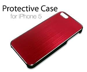 iPhone 5 Tasche Hülle Schutzhülle für iPhone5 Neu Hardcase (rot,schwarz)