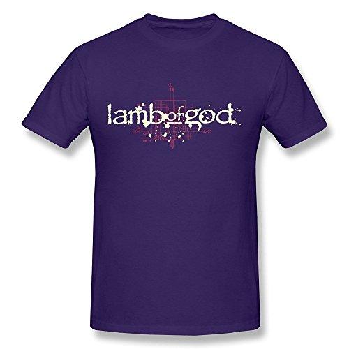 Michaner Walosde SP Heavy Metal Lamb Of God Cotton T Shirt For Men Black Medium