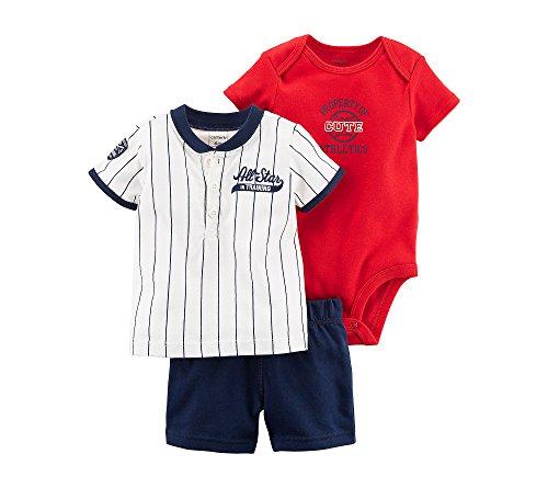 5b8466034767 Carter s Baby - Conjunto de 3 Piezas para bebé - Blanco - 24 Meses