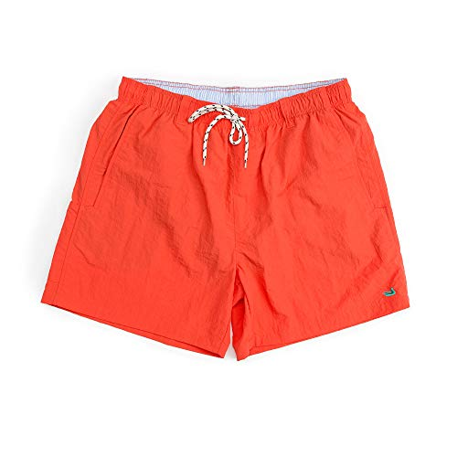 Southern Marsh Dockside Swim Trunk, Neon Coral, Small -