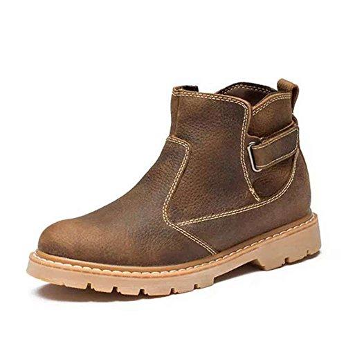 Europa,Stivali Donna Di Grandi Dimensioni Di Cuoio,Short Boots,Manicotto Outdoor Utensileria Stivali,Sottili Stivali B