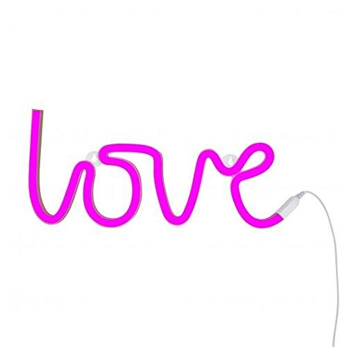 A Little Lovely Company Love - Luces de neón, color rosa