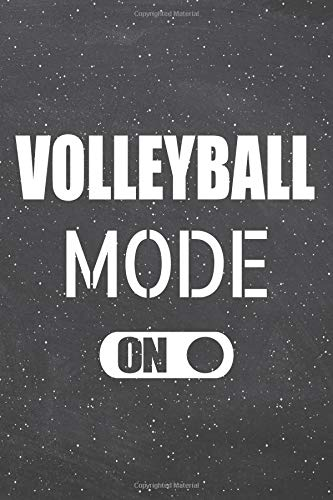 Volleyball Notebook, Planner or Journal | Size 6 x 9 | 110 Lined Pages | Office Equipment, Supplies |Funny Volleyball Gift Idea for Christmas or Birthday ()