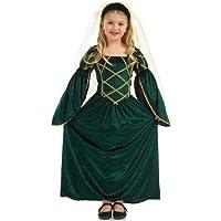 Girl - Disfraz de princesa medieval para niña, talla S (4 - 6 años) (2990-200S)