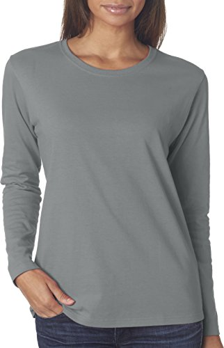 Gildan Heavy in cotone da donna Missy Fit long-sleeve t-shirt Sport Grey