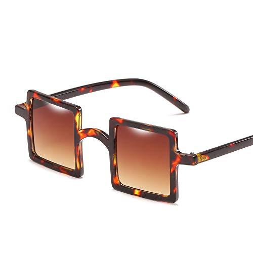 YUHANGH Kleine Quadratische Sonnenbrille Frauen Vintage Transparente Brillengestell Frauen Männer Persönlichkeit Party Brille