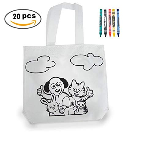 MIRVEN Lote 20 Bolsas Colorear Ideal Regalos cumpleaños