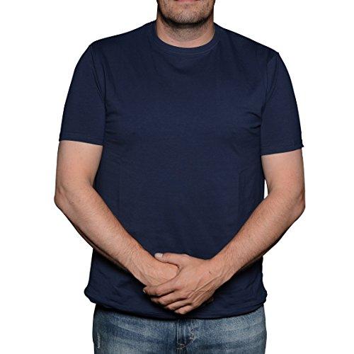 Kashmir Herren T-Shirt Blau (Navy Blue 0580)