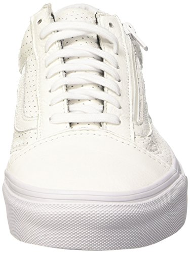 Vans Old Skool Zip, Baskets Basses Mixte Adulte Blanc (Perf Leather/True White)