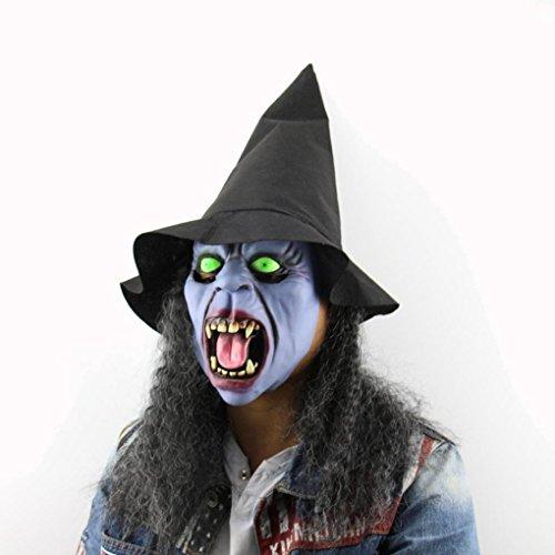 Kostüme Twin Halloween 2017 (HCFKJ 2017 Mode Halloween Fang Hut Hexe Maske Fad Halloween MüTze Festival Dance Party Mit)