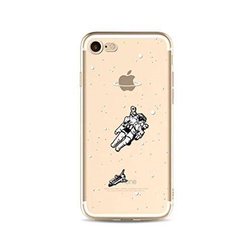KSHOP Case cas TPU Silicone pour iphone SE / iphone 5 / iphone 5s Coque Case Cover Housse de protection Shell avec mince motif d'impression - La Licorne Les nuagesarc-en-ballon K15