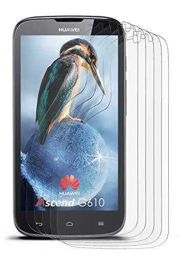 5X Huawei G610   Schutzfolie Matt Bildschirm Schutz [Anti-Reflex] Screen Protector Fingerprint Handy-Folie Matte Bildschirmschutz-Folie für Huawei Ascend G610 Bildschirmfolie