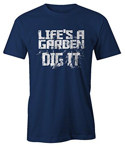 0a8ffcd668ce4 RiotBunny Life S A Garden Dig It Cool Gracioso Gardening T-Shirt Camiseta  Hombres Azul Marino
