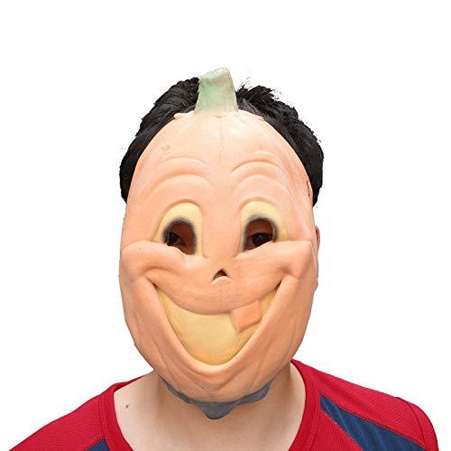 AZZRA Maske Scary Flesh Latex Schneidezähne Kürbis Halloween Party Maske Kostüm Prop Kostüm Party Halloween Fasching Karneval Kostüm Cosplay Dekoration (Aliens Guy Kostüm)