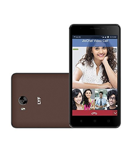 (CERTIFIED REFURBISHED) LYF Wind 4S (Dual Sim 4G VoLTE, 4000mAh Battery, 2GB RAM/16GB ROM) (Brown)