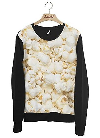 Batch1 Popcorn All Over Fashion Print Novelty Food Unisex Sweatshirt