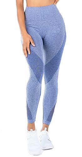 aeaf53203326 Twippo Pantaloni Yoga da Donna Leggins Sportivi Fitness Collant Blu M