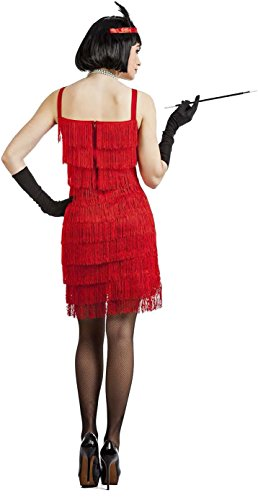 Imagen de disfraz charleston flecos rojo x l alternativa