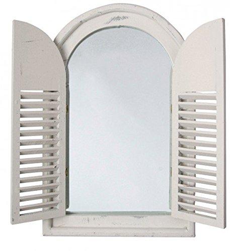 Espejo-con-puertas-estilo-rstico-espejo-de-pared-blanco-con-2-puertas-aprox-59-cm-x-38-cm-x-45-cm