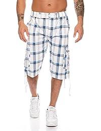 Kendindza Short Homme Pantacourt Bermuda Cargo Loisir Shorts d'été M-4XL