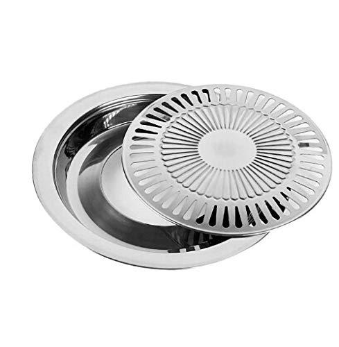 HSincerely Grill-Tablett, Haushalt, Grill-Tablett aus Edelstahl Edelstahl-Grillrost aus Edelstahl Elektrischer Keramik-KonvektionsofenSilber 30 * 30 * 2.8 cm