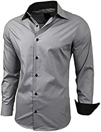 JEEL Men Long-Sleve Casual Shirt / For Business Suit Wedding Casual / Slim-Fit, Size S - 6XL