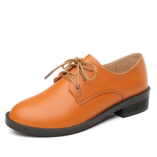 Chaussures Talon Plat Nouvelle De ZHR2017 Printemps Jurchen Cuir Chaussures Plates UK Vent Casual Chaussures Joker B