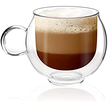 Glass Double Walled Espresso Cups - 2 Cup Coffee Set ...