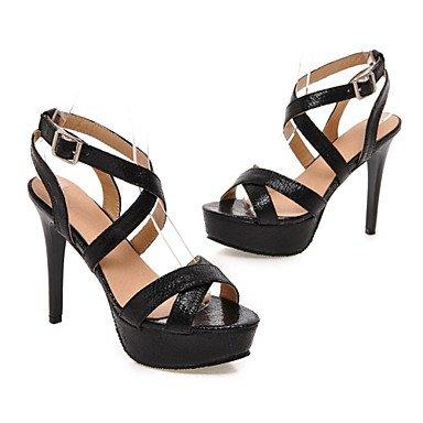 Zormey Damen Sandalen Sommer Club Schuhe Aus Lackleder Hochzeit Party & Amp Abendkleid Stiletto Heel Schnalle US11 / EU43 / UK9 / CN44