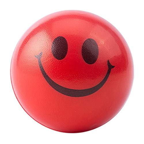 Happy Smile Face Anti Stress Relief Sponge Foam Ball Hand Wrist Squeeze Exercise