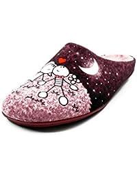 Bonitos y Elegantes Zapatillas Bordadas de Flores Lotus Azul 35 2FQ2N0