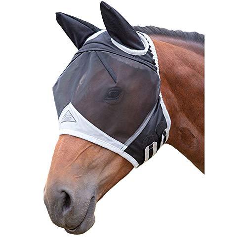 Shires feine meash Fliegen Maske/Kapuze/Schleier mit Full Face und Ohren Doppelbett (Kapuzen Maske)
