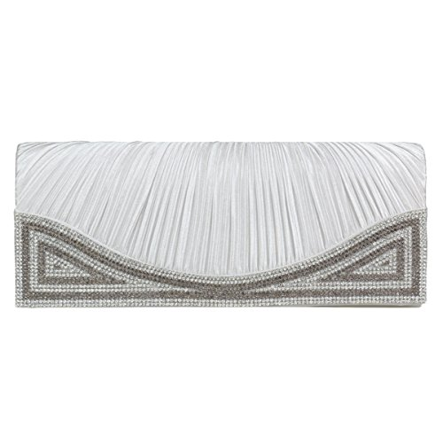 damara-womens-magnetic-clasp-evening-clutch-bag-rhinestone-pleated-satinsilver
