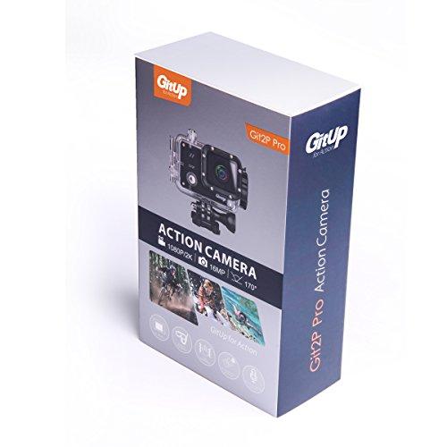 GitUp GIT2P Pro Action Videocamera, Sport e azione Telecamera subacquea, impermeabile, con accessori, sensore Panasonic - Pro Edition (90° gradi FOV)