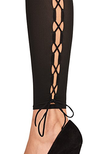 Wolford Femme Lace Up Leggings 40 DEN gobi/black