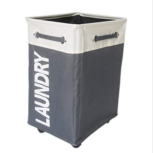 Hbbhbb Wäschekorb Auf Rädern Abnehmbare Taschen Wäschewagen Toy Organizer Auf Rädern Robust, Grau 80L -