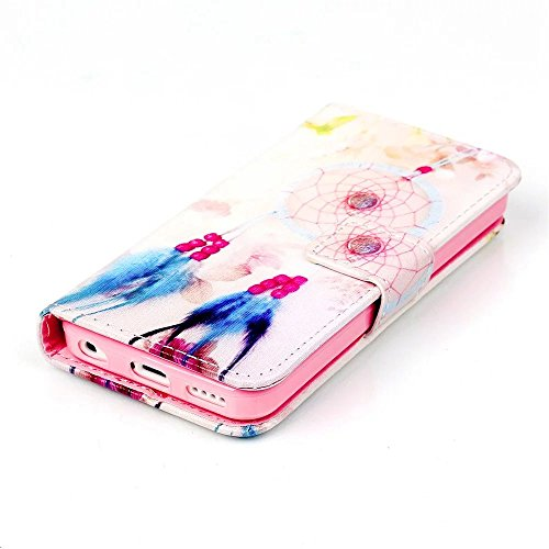 TKSHOP Zubehörteil Case Cover für iphone 5 c Hülle Luxus PU Leder Bookstyle Handyhülle Taschen SchaleUltra Slim Smart Ledertasche Flip Etui mit Standfunktion Schale Anti-Schock Schutzhülle Magnetversc Mb6