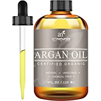 ArtNaturals Organic Argon Oil for Hair, Face and Skin, Grade A Triple Extra Virgin Cold Pressed 4 oz.