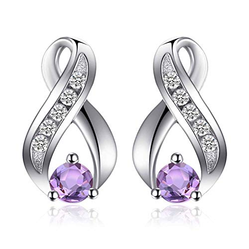 Jewelrypalace 0.29ct echte Amethyst Jahrestag Ohrstecker 925 Sterlingsilber