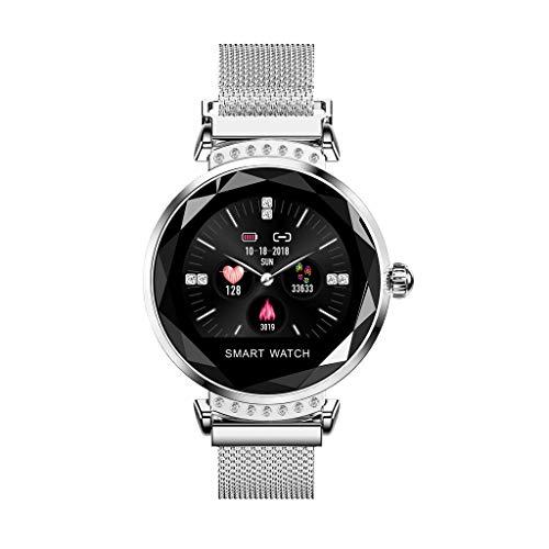 BHYDRY H2 Valentinstag Geschenk Frauen Blutdruck Sport Smart Armband Uhr Schrittzähler(1*pc,Silber)