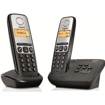 Gigaset AL130A Duo Téléphone sans Fil DECT/GAP Répondeur Noir