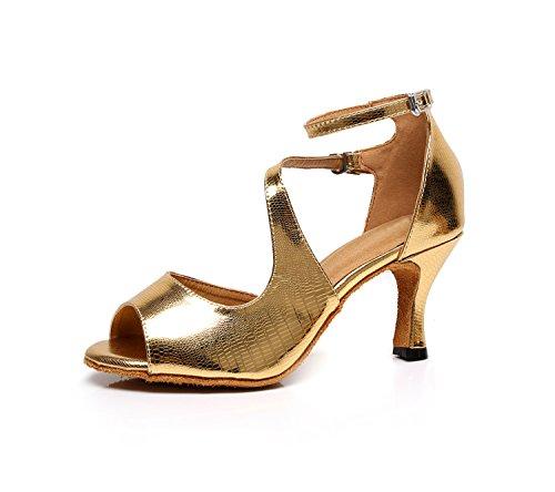 Minitoo , Salle de bal femme Gold-7.5cm Heel