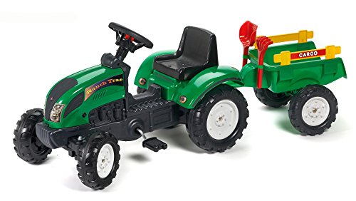 Falk - 2052c - giochi all'aperto - Trailer Ranch Trac Escavatore Rateau &