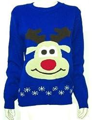 Mix lot neue Unisex Weihnachten Neuheit Jumper Rudolph Weihnachten niedliche Rentier Pullover plus Größe 44-50